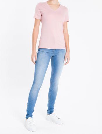 Camiseta-Decote-V-Ck-Abertura-Lateral---Rosa---M
