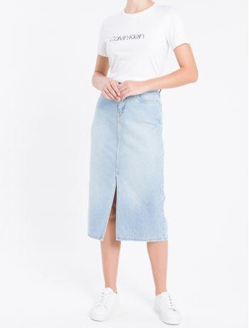 Camiseta-Gola-Careca-Calvin-Klein---Branco---PP