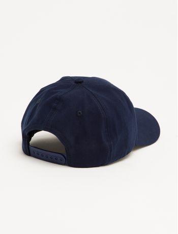 Bone-Ckj--Aba-Curva-5-Gomos-Lona-Logo-Pl---Azul-Marinho---U