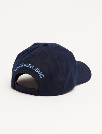 Bone-Ckj-Aba-Curva-5-Gomos-Lona-Logo-Vel---Azul-Marinho---U