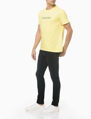 Camiseta-Slim-Basica-Flame-Calvin-Klein---Verde-Claro---P