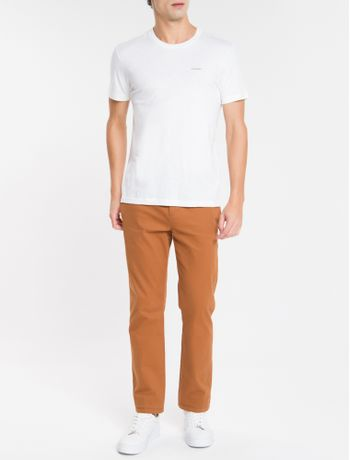 Camiseta-Slim-Flame-Calvin-Klein---Branco---P