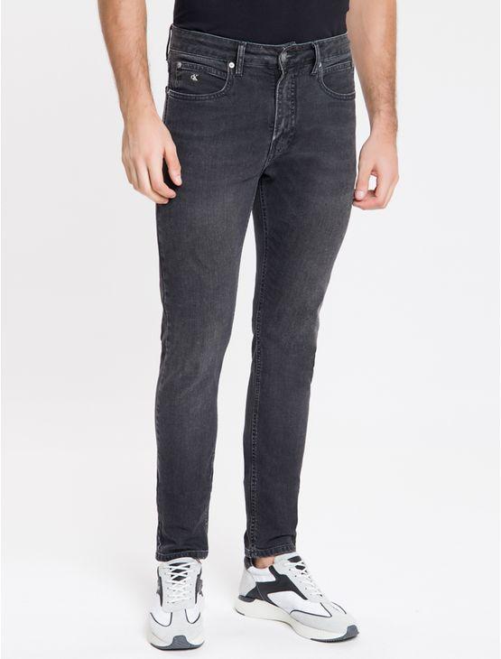 Calca-Jeans-Masculina-Six-Pockets-Skinny-Cintura-Baixa-Preta-Calvin-Klein