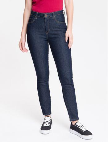 Calca-Jeans-Feminina-Five-Pockets-Skinny-Destroyed-Cintura-Alta-Azul-Marinho-Calvin-Klein-