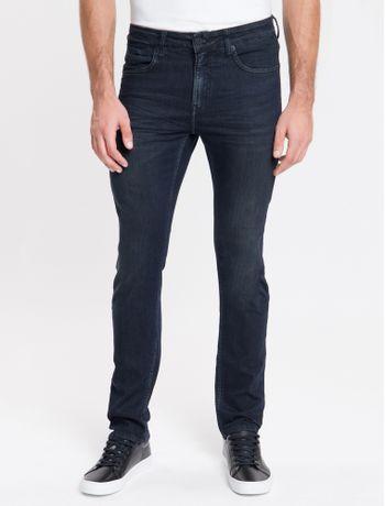 Calca-Jeans-Masculina-Five-Pockets-Slim-Stone-Cintura-Baixa-Azul-Marinho-Calvin-Klein