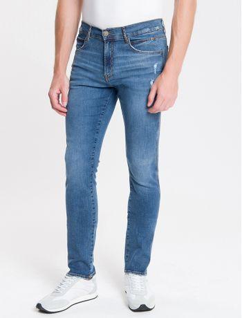 Calca-Jeans-Masculina-Skinny-Sculpted-Used-Cintura-Baixa-Azul-Medio-Calvin-Klein