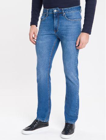 Calca-Jeans-Masculina-Five-Pockets-Slim-Reta-Justa-Cintura-Regular-Azul-Medio-Calvin-Klein
