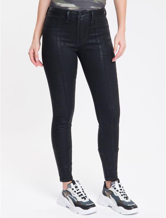 Calca-Jeans-Feminina-Five-Pockets-Super-Skinny-Cintura-Media-Preta-Calvin-Klein