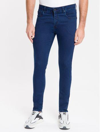 Calca-Jeans-Masculina-Five-Pockets-Body-Skinny-Cintura-Baixa-Azul-Marinho-Calvin-Klein