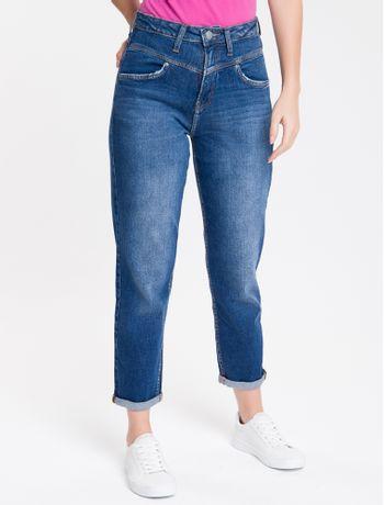Calca-Jeans-Feminina-Mom-Cintura-Super-Alta-Azul-Medio-Calvin-Klein
