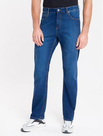 Calca-Jeans-Masculina-Five-Pockets-Relaxed-Reta-Cintura-Alta-Azul-Medio-Calvin-Klein
