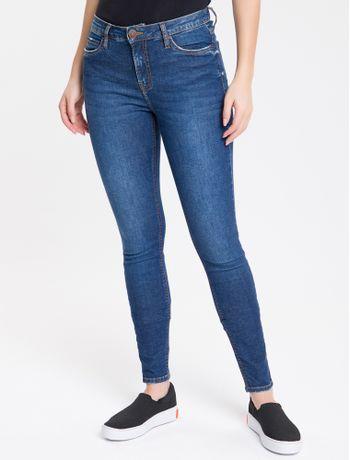 Calca-Jeans-Feminina-Super-Skinny-com-Premium-Stretch-Cintura-Media-Azul-Marinho-Calvin-Klein