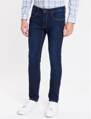 Calca-Jeans-Masculina-Five-Pockets-Super-Skinny-Elastano-Azul-Marinho-Calvin-Klein