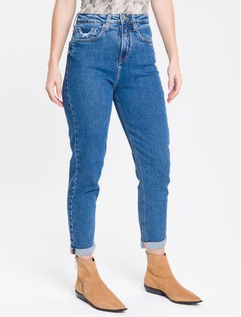 Calca-Jeans-Feminina-Mom-Cintura-Super-Alta-Azul-Marinho-Calvin-Klein