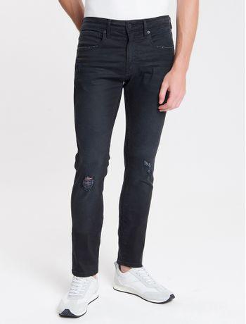 Calca-Jeans-Masculina-Skinny-com-Premium-Stretch-Cintura-Baixa-Preta-Calvin-Klein