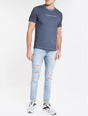 Calca-Jeans-Masculina-Six-Pockets-Skinny-Cintura-Baixa-Azul-Claro-Calvin-Klein