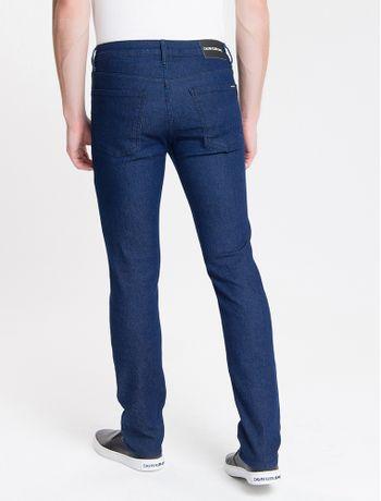 Calca-Jeans-Masculina-Five-Pockets-Slim-Cintura-Baixa-Azul-Marinho-Calvin-Klein