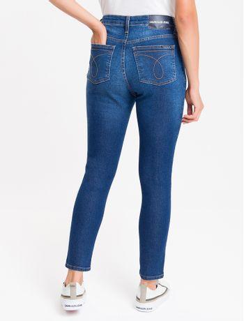 Calca-Jeans-Feminina-Five-Pockets-Skinny-Cintura-Alta-Azul-Medio-Calvin-Klein
