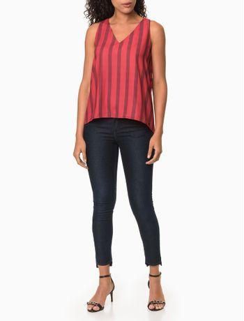 Calca-Jeans-Feminina-Five-Pockets-Jegging-Cintura-Media-Preta-Calvin-Klein-