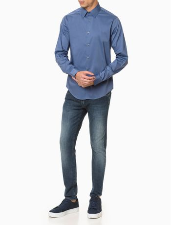 Calca-Jeans-Masculina-Five-Pockets-Super-Skinny-Azul-Marinho-Calvin-Klein