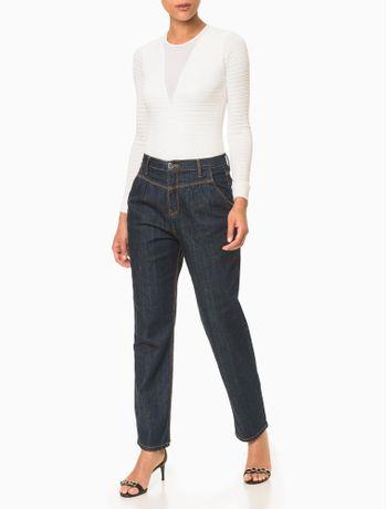 Calca-Jeans-Feminina-Balloon-Cintura-Media-Azul-Marinho-Calvin-Klein
