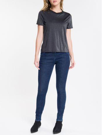 Calca-Jeans-Feminina-Five-Pockets-Skinny-Cintura-Alta-Azul-Marinho-Calvin-Klein