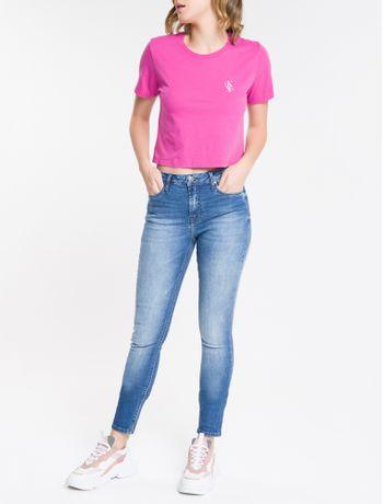 Calca-Jeans-Feminina-Super-Skinny-com-Premium-Stretch-Cintura-Media-Azul-Medio-Calvin-Klein