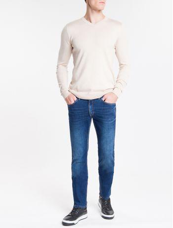 Calca-Jeans-Masculina-Five-Pockets-Skinny-Azul-Marinho-Calvin-Klein