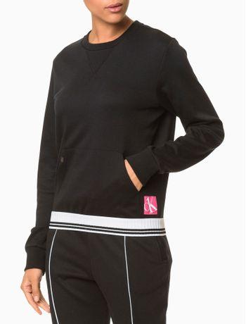 Moletom-Feminino-CK-One-Sock-Preto-Loungewear-Calvin-Klein