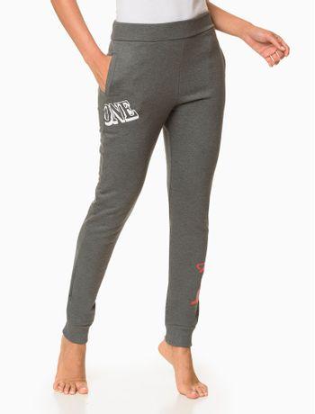 Calca-Moletom-Feminina-CK-One-Cinza-Mescla-Loungewear-Calvin-Klein