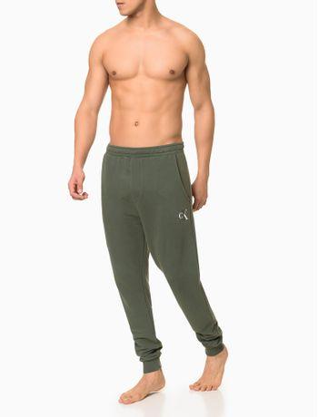 Calca-Moletom-Masculina-CK-One-Verde-Militar-Loungewear-Calvin-Klein
