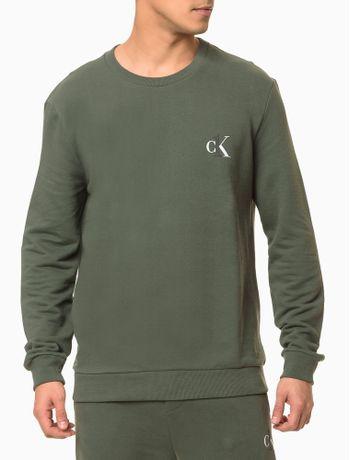 Moletom-Masculino-CK-One-Verde-Militar-Loungewear-Calvin-Klein