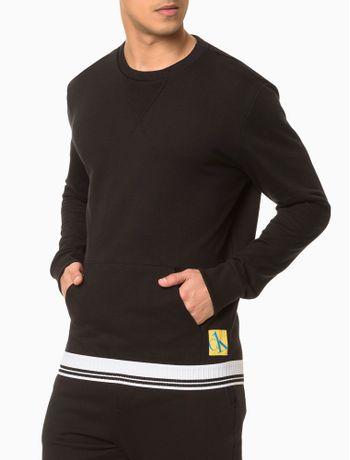 Moletom-Masculino-CK-One-Sock-Preto-Loungewear-Calvin-Klein