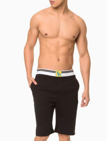 Bermuda-Moletom-Masculina-CK-One-Sock-Preta-Loungewear-Calvin-Klein