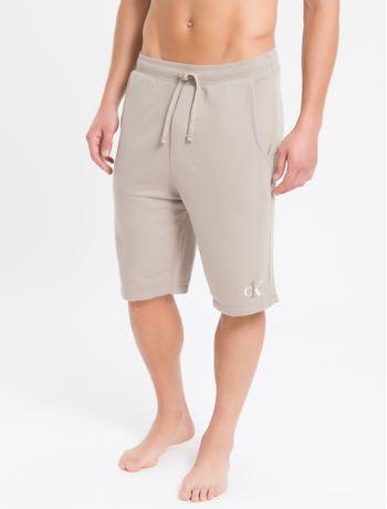 Bermuda-Moletom-Masculina-CK-One-Caqui-Loungewear-Calvin-Klein