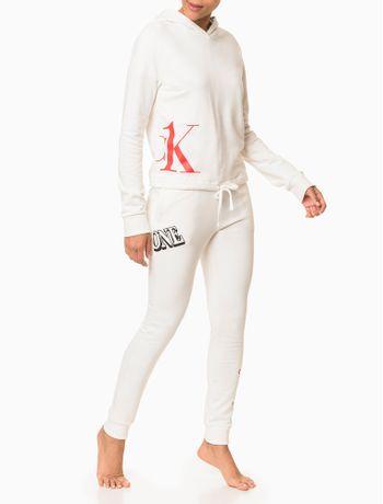 Calca-Moletom-Feminina-CK-One-Nude-Loungewear-Calvin-Klein