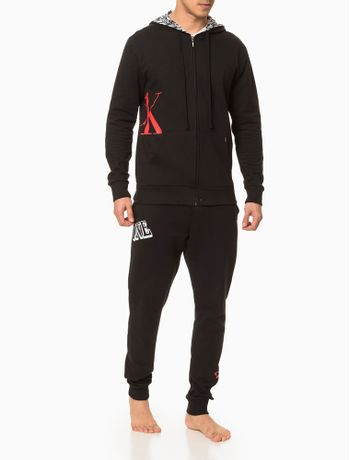 Moletom-Masculino-com-Capuz-CK-One-Preto-Loungewear-Calvin-Klein