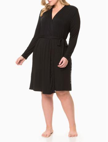 Pijama-Feminino-Robe-Plus-Size-Preto-Calvin-Klein