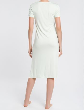 Pijama-Feminino-Camisola-Longa-Verde-Claro-Calvin-Klein