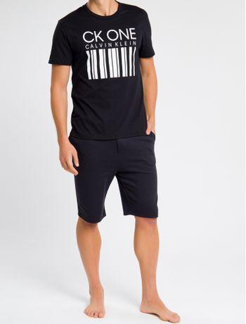 Camiseta-Masculina-CK-One-Barcode-Preta-Loungewear-Calvin-Klein
