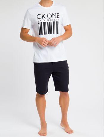Camiseta-Masculina-CK-One-Barcode-Branca-Loungewear-Calvin-Klein