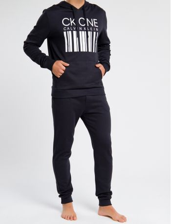 Moletom-Masculino-com-Capuz-CK-One-Barcode-Preto-Loungewear-Calvin-Klein
