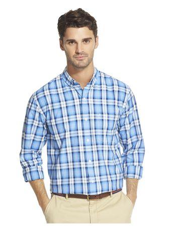 Camisa-Xadrez-Manga-Longa-Regular-Masculina-Azul-