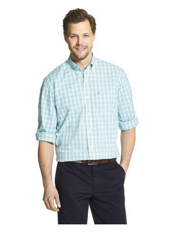 Camisa-Xadrez-Manga-Longa-Regular-Masculina-Verde-
