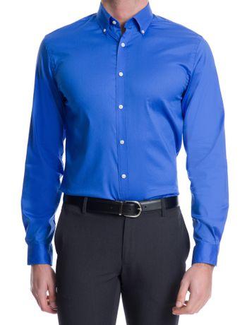 Camisa-Basica-Manga-Longa-Slim-Masculina-Azul-Escuro