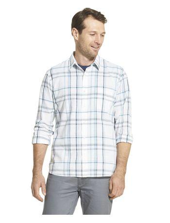 Camisa-Xadrez-Manga-Longa-Slim-Masculina-Azul