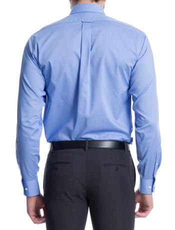 Camisa-Lisa-Manga-Longa-Regular-Masculina-Azul-