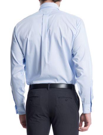 Camisa-Lisa-Manga-Longa-Regular-Masculina-Azul-Claro