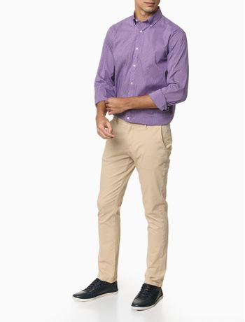 Camisa-Xadrez-Manga-Longa-Regular-Masculina-Lilas
