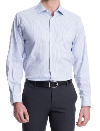 Camisa-Traveller-Listras-Manga-Longa-Regular-Masculino-Azul-Claro